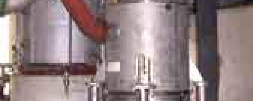 Externí vařák rektifikační kolony v BIOFERM lihovar Kolín