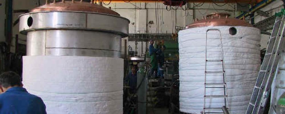 Destilační kotle ve výrobě (4 ks)
