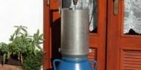 Výsledná drť z drtiče MINI (jablka, 500 ot/min.)