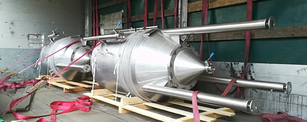 Úchovné tanky na kvasnice 600 litrů