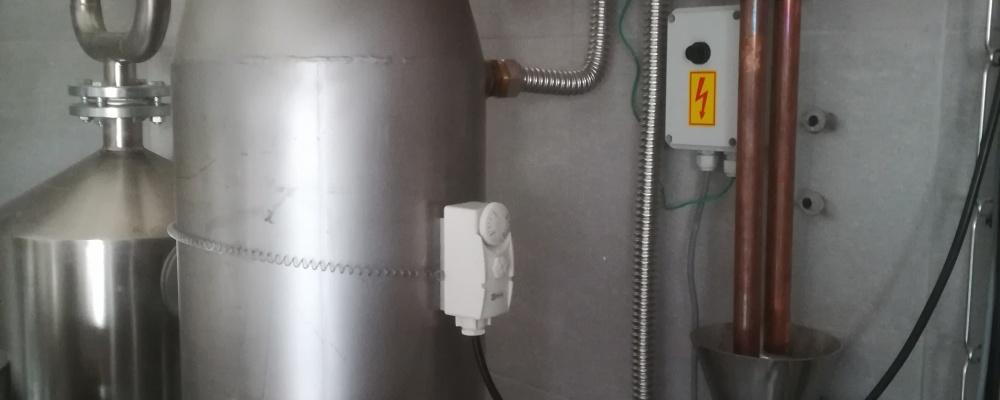 HOMBRES Distillery, Hostouň - spalinový výměník